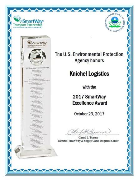 SmartWay Excellence Award Certificate.jpg